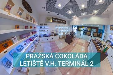 Pražská čokoláda -Letiště Václava Havla, Terminál 2